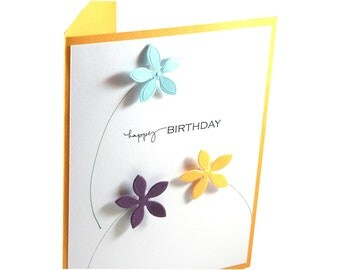 Birthday card, handmade birthday card, Happy Birthday