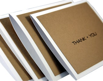 Set of 12 simple thank you cards, Thank You cards for men, masculine thank you cards, thank you card set for guys