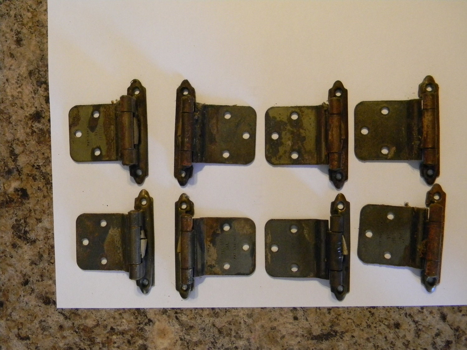 vintage 1960 39 s cabinet hardware hinges kitchen cabinet. Black Bedroom Furniture Sets. Home Design Ideas