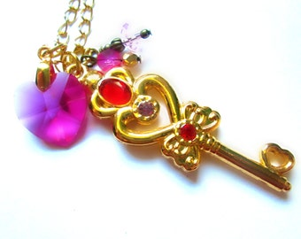 Small Lady's Time Key Necklace