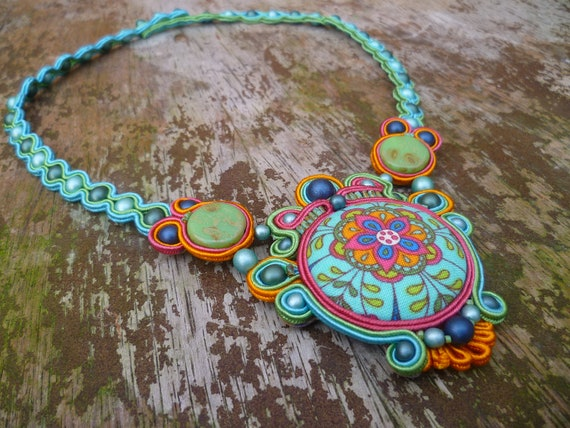 Alice Soutache Neklace- Reserved for Margery