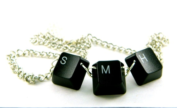 Unisex Necklace Recycled Computer Keyboard SMH