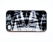 iphone 4 case with Patterns No. 37 Black and White