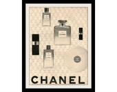 1966 CHANEL No. 5 Perfume & Cologne Ad, Vintage Advertisement Wall Decor Art Print