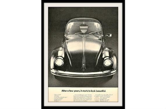 1969 vw beetle bug ad beautiful vintage by stillsoftime on etsy
