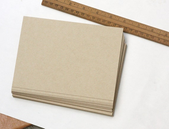 Blank Card Stock Paper 25 Kraft Paper Cards/ Blank