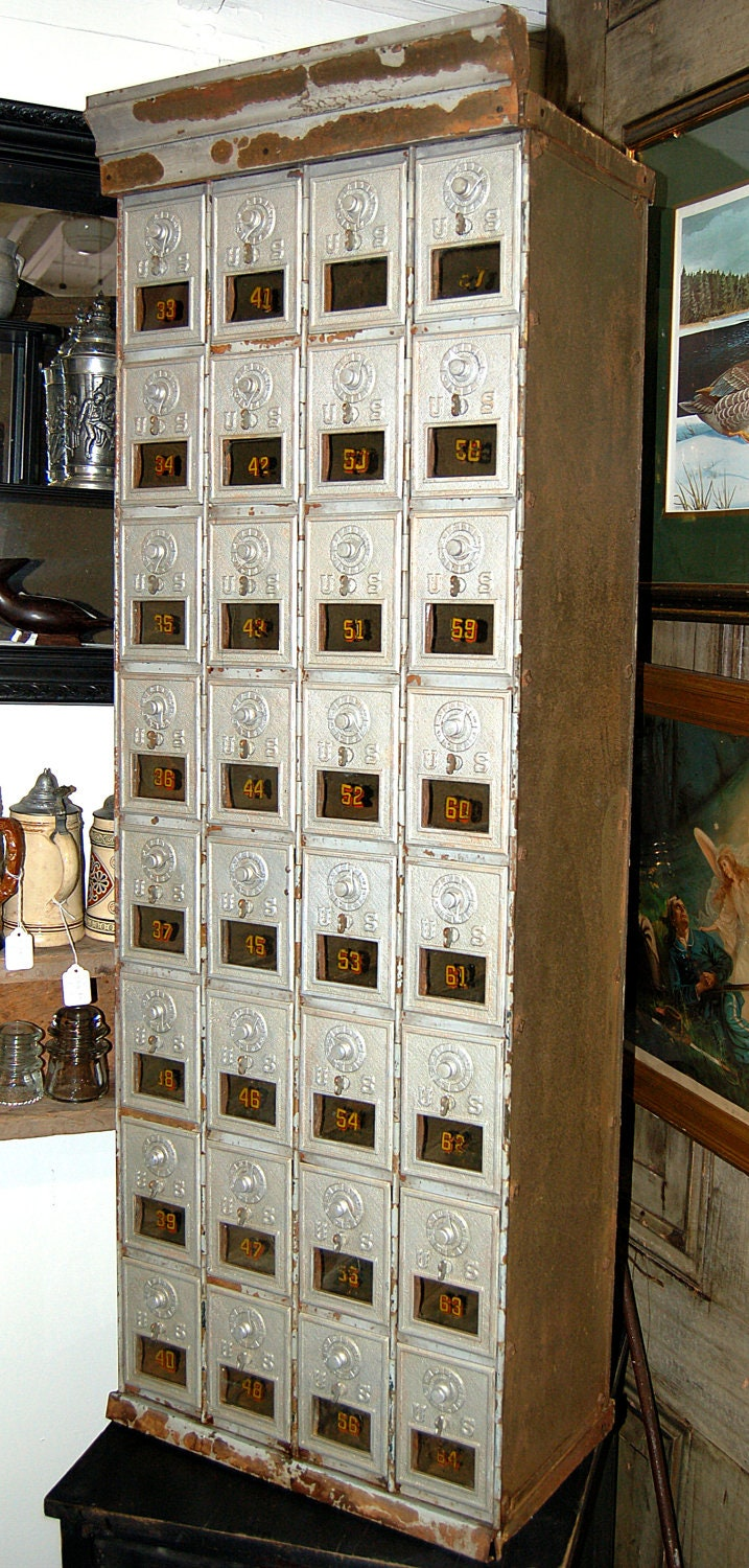 Antique Post Office Boxes Archetectural By Rememberwhenshoppe