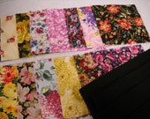 """Quilt Kit  Pre-cut Quilt Kit  Squares with Borders Table Runner """"Floral Bouquet""""     by  ThriftyFabricsETC"""
