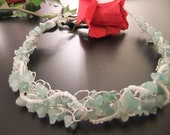 Aventurine and Silver Wire Crochet Necklace