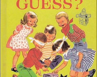 CAN YOU GUESS A Romper Room Vintage Wonder Book Illustrated by Ruth Wood