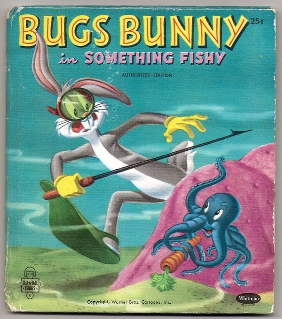 Bugs Bunny in Something Fishy Vintage Whitman Tell A Tale Book Illustrated by Warner Bros Cartoons
