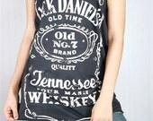 JACK DANIELS Sour Mash Tennessee Whiskey Old No.7 Brand Tank Top Women Black Shirt Tunic Top Vest Women Singlet Jack Daniels Shirt Size M