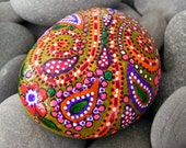 Happy Hippie Sunshine /Painted Rock from Greece / Sandi Pike Foundas