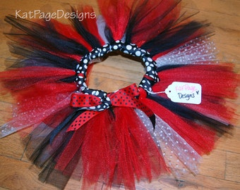 Child's Tutu - Ladybug red & black