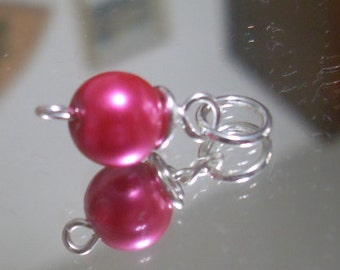 Fuchsia Pearl Charm
