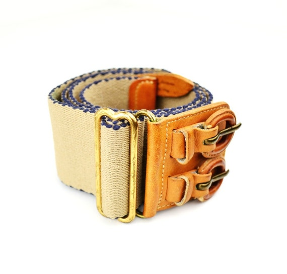 Reserved for Collette - Vintage Women's Belt - Beige - Size Small