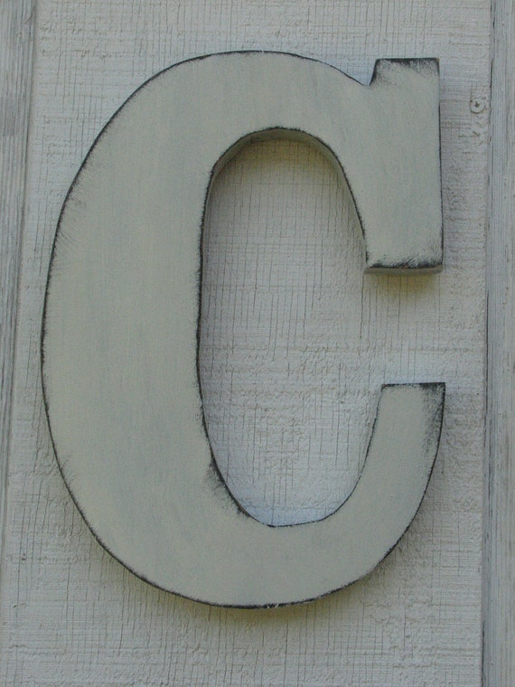 Letter C For Wall Wooden Letters Rustic Wall Hanging Initials Letter C Home
