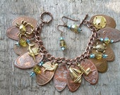 Pressed Elongated Penny Pennies Beach Ocean Sea Charm Bracelet