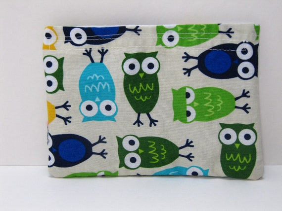 Reusable Snack Bag, Eco-Friendly Snack Bags, Urban Owl Snack Bag, Back To School