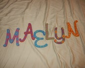 """Wooden Letters - Wall Art - Hand-Painted Wall Art - Custom Home Decor - 5"""" Letter"""