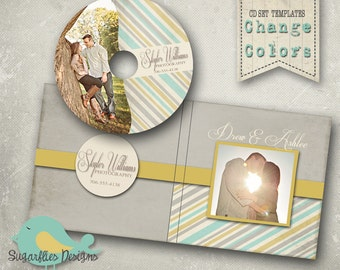 CD/DVD Label and Cover Templates - DVD Case & Label Stripes