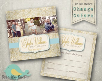 5x5 Gift Card Template -- Gift Certificate Rich