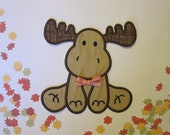 embroidered moose patch/ applique/ DIY