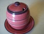 Vintage Honey Pot with matching saucer