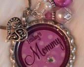 Mom Keychain, Mommy Keychain, PERSONALIZED, Mom Necklace, Mommy Necklace, Under 20