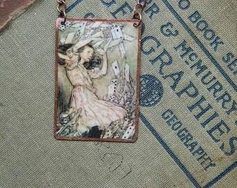 Arthur Rackham necklace Art Alice in Wonderland