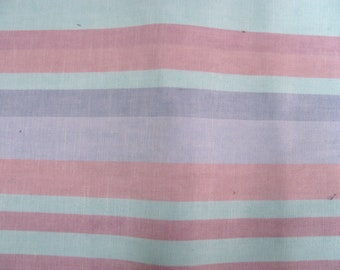 Vintage upholstery fabric in pastel stripes