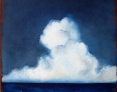 Seascape ocean thunderstorm clouds home decor wall art original oil painting - Stormscape series thirtyeight