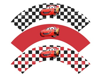 DIY- disney cars cupcake wrappers PRINTABLE