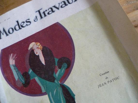 Fashion Magazine, French Modes et Travaux , French Vintage  Dated Dec.1929