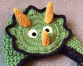 Animal Earflap Hat - Triceratops Style