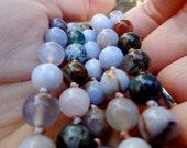 """The """"Stay Present"""" Mala - Knotted Mala Beads -  Yoga Prayer Beads"""