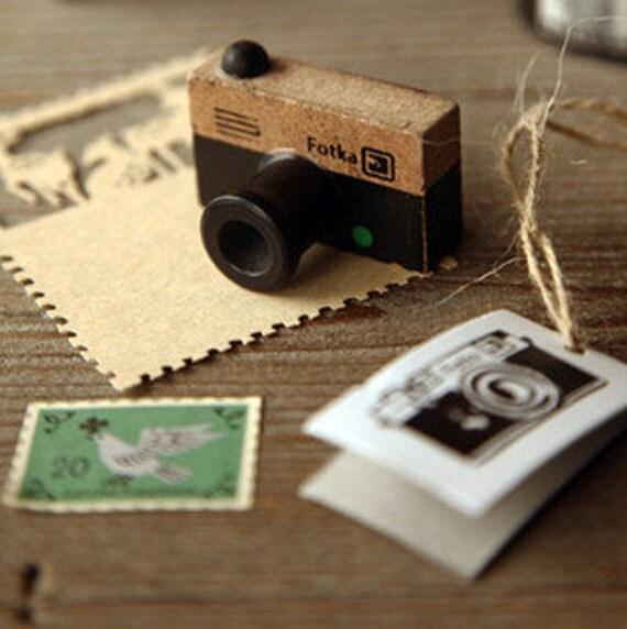 Scrapbook Rubber Stamp Camera
