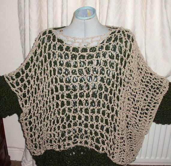 Linen crochet Lagenlook box top to fit all