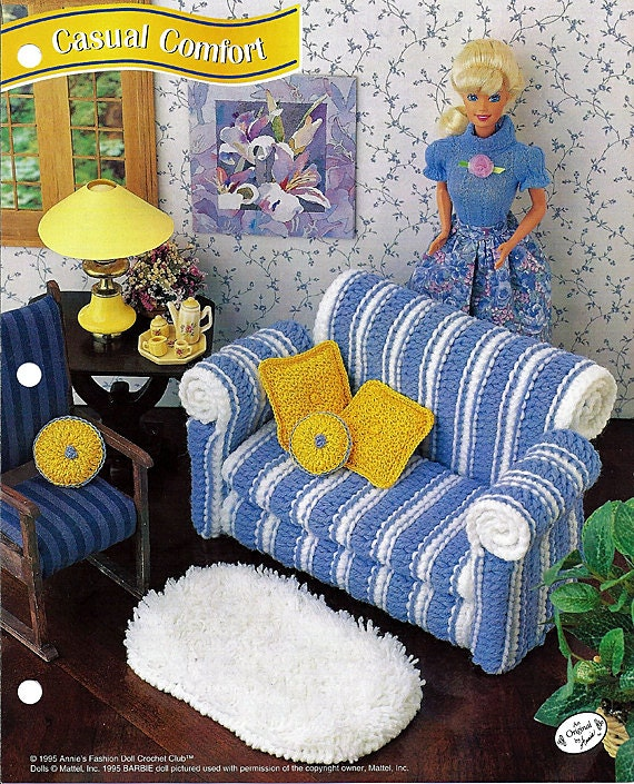 Casual Comfort Couch Crochet Barbie By Grammysyarngarden