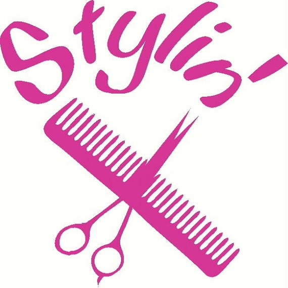 Items Similar To Cosmetology Hair Stylist Scissors Vinyl
