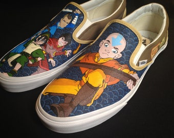 Custom Hand Painted Shoes - Avatar the Last Airbender