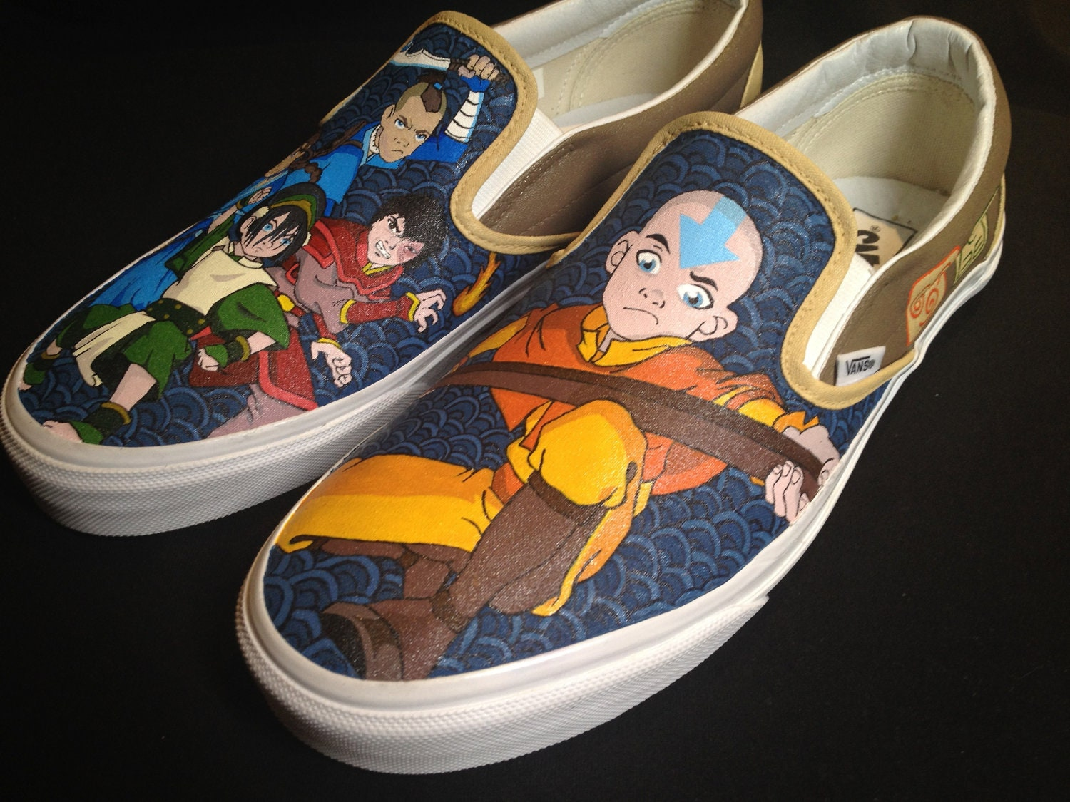 Custom Hand Painted Shoes Avatar the Last Airbender by RyTee: www.etsy.com/listing/108646604/custom-hand-painted-shoes-avatar-the