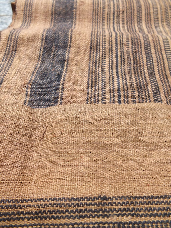 Handwoven hemp and cotton Vintage fabric and textiles from thailand