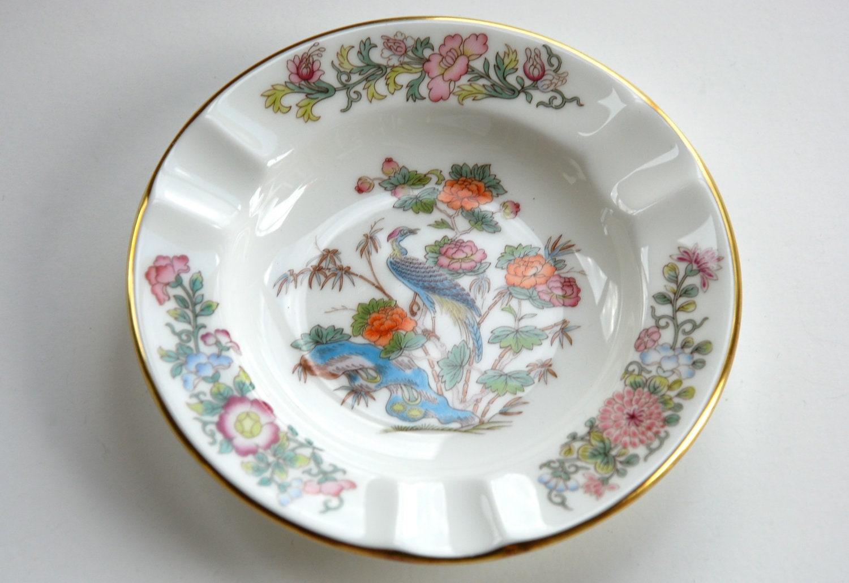 wedgwood china ashtray english bone china kutani crane bird. Black Bedroom Furniture Sets. Home Design Ideas