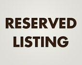 Listing Reserved for S2WEBB