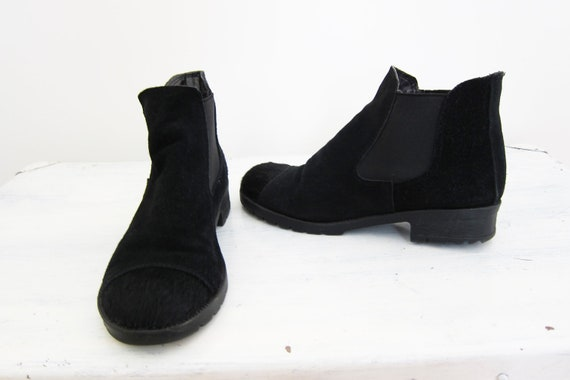 Vintage Horse Hair Point  Low/Suede Boots