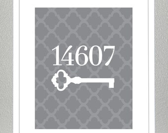 Custom House Number Print - ( Choose your Colors ) - 8x10 Print