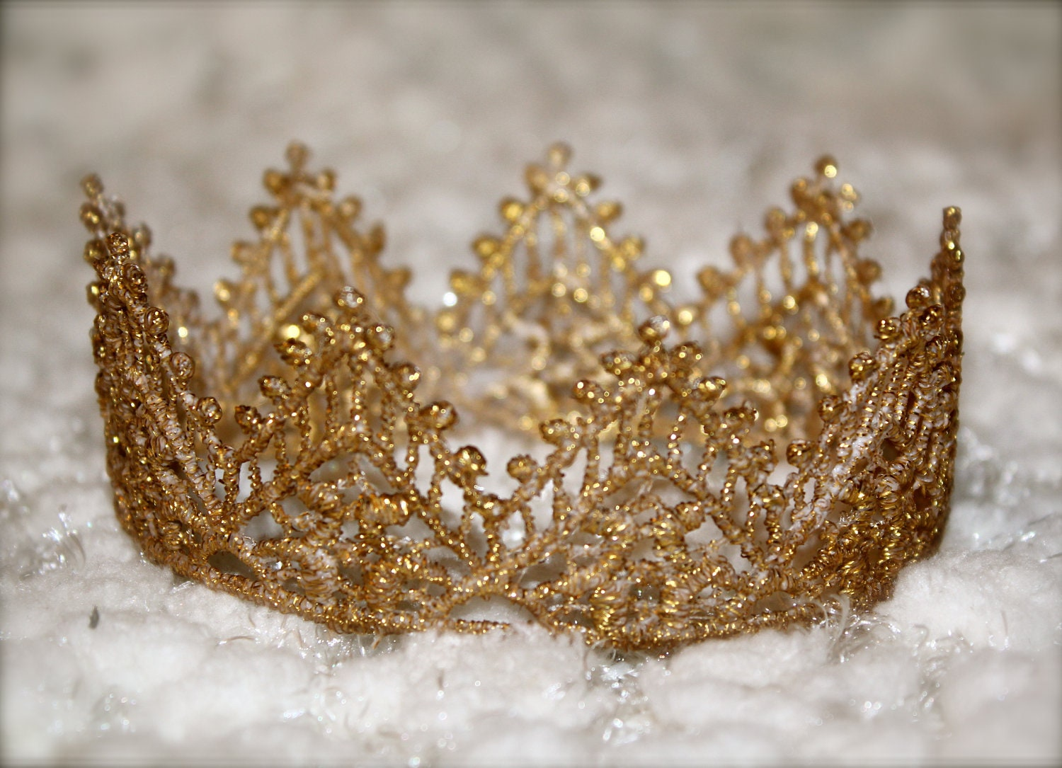 Regal Gold Lace Crown For Boy Or Girl Perfect Newborn Photo