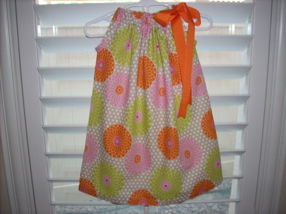 Childrens toddler girls Pillowcase Dress 12 to 18 Months  Wedding  Ready To Ship