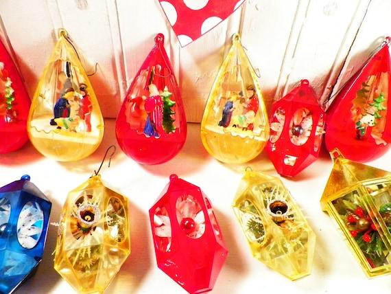 Plastic Christmas Ornaments 1970s Sears